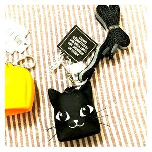 Halloween black cat pocketbac holder